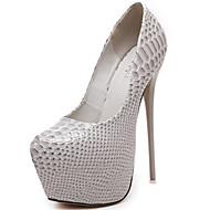 baratos Sapatos Femininos-Mulheres Sapatos Couro Envernizado Verão / Outono Gladiador / Plataforma Básica Saltos Salto Agulha Preto / Cinzento Claro / Verde