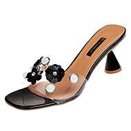 Χαμηλού Κόστους Shoes Trends-Γυναικεία Παπούτσια PU Καλοκαίρι Ανατομικό Παντόφλες & flip-flops Κοντόχοντρο Τακούνι Μαύρο / Μπεζ / Ροζ