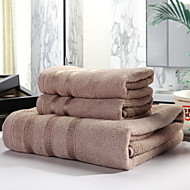 cheap Towels & Robes-Superior Quality Bath Towel / Hand Towel, Solid Colored Poly / Cotton 3 pcs