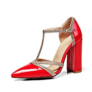 abordables Talons pour Femme-Femme Chaussures Similicuir Eté D'Orsay & Deux Pièces / Escarpin Basique Chaussures à Talons Talon Bottier Bout pointu Beige / Jaune /