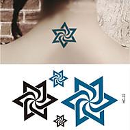 billiga Temporära tatueringar-10pcs Klistermärke Totemserier Tatueringsklistermärken