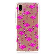 billiga Mobil cases & Skärmskydd-fodral Till Huawei P20 / P20 lite Genomskinlig Skal Flamingo Mjukt TPU för Huawei P20 / Huawei P20 Pro / Huawei P20 lite / P10 Plus / P10 Lite / P10