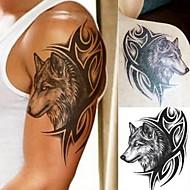 billiga Temporära tatueringar-5pcs Klistermärke Djurserier / Totemserier Tatueringsklistermärken