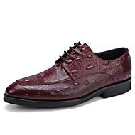 baratos Sapatos Masculinos-Homens Sapatos Confortáveis Couro Primavera Oxfords Preto / Marron / Vinho