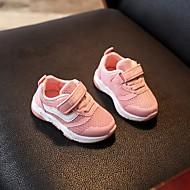 baratos Sapatos de Menino-Para Meninos Sapatos Tule Outono Primeiros Passos Tênis Velcro para Branco / Preto / Rosa claro