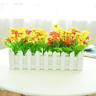 billige Kunstig Blomst-Kunstige blomster 1 Afdeling Rustikt Planter Gulvblomst