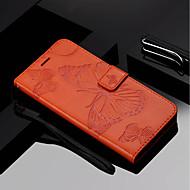 billiga Mobil cases & Skärmskydd-fodral Till Huawei Mate 10 pro / Mate 10 lite Plånbok / Korthållare / med stativ Fodral Fjäril Hårt PU läder för Mate 10 / Mate 10 pro / Mate 10 lite