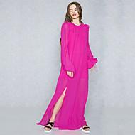 女性用 モダンシティ / ストリートファッション シフト / シース / スウィング ドレス ソリッド マキシ