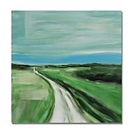 baratos -Pintura a Óleo Pintados à mão - Abstrato Paisagem Contemprâneo Modern Tela de pintura
