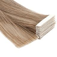 Neitsi На ленте Расширения человеческих волос Прямой человеческие волосы Remy Накладки из натуральных волос Бразильские волосы Черный Блондинка 1pcs Без запаха Ручная работа Светлые цвета Жен.