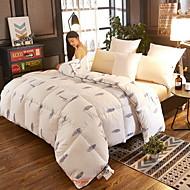 billiga Täcken och överkast-Bekväm - 1 st. Sängöverkast Vinter Vitt gåsdun Geometrisk