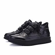 baratos Sapatos Masculinos-Homens Sapatos Confortáveis Couro Ecológico Inverno Botas Preto / Prata