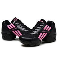 billige Dansesneakers-Herre / Dame Dansesko / Moderne sko Lerret Høye hæler Tykk hæl Kan spesialtilpasses Dansesko Hvit / Svart / Trening