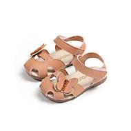 tanie Obuwie dziewczęce-Dla dziewczynek Obuwie Sztuczna skóra Lato Wygoda Sandały Spacery Klamra na Brzdąc Beżowy / Zielony / Różowy
