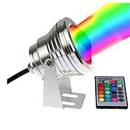 billiga Belysning-1st 10W Undervattensglödlampa Fjärrstyrd Bimbar Vattentät Dekorativ RGB + Vit 12V Trädgård Gård Simbassäng Utomhusbelysning