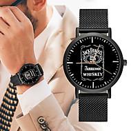 저렴한 -남성용 스포츠 시계 중국어 뉴 디자인 / 크로노그래프 / 창조적 스테인레스 스틸 / 가죽 밴드 사치 / 패션 블랙 / 실버 / 골드