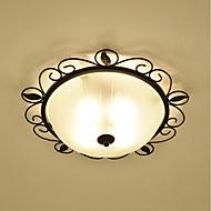 billige Taklamper-3-Light Takplafond Omgivelseslys Malte Finishes Metall Glass Øyebeskyttelse 110-120V / 220-240V Pære ikke Inkludert / E26 / E27