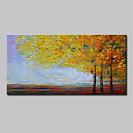 billiga Oljemålningar-Hang målad oljemålning HANDMÅLAD - Abstrakt / Landskap Moderna Duk