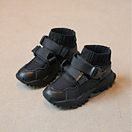 baratos Sapatos de Menino-Para Meninos Sapatos PVC Primavera & Outono Conforto Tênis para Branco / Preto / Rosa claro