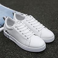baratos Sapatos Masculinos-Homens Couro Ecológico Primavera & Outono Conforto Tênis Prata / Branco / Preto / Branco e Verde