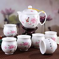 billige Kaffe og te-7 stk porselenteapot sett varmebestandig, 10 * 10 * 12; 6,5 * 6,5 * 7 cm