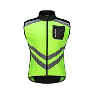 WOSAWE ノースリーブ サイクリングベスト - グリーン バイク ベスト / ジャージー, 反射性ストリップ