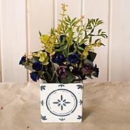 billige Kunstig Blomst-Kunstige blomster 1 Afdeling Rustikt Roser Bordblomst