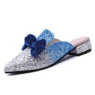 cheap Women's Clogs & Mules-Women's Fabric Summer Comfort Clogs & Mules Low Heel Round Toe Bowknot Black / Purple / Royal Blue
