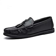 お買い得  メンズデッキシューズ-男性用 靴 エナメル 冬 コンフォートシューズ ボート用シューズ ブラック / Brown / バーガンディー