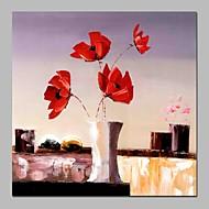 billiga Stilleben-Hang målad oljemålning HANDMÅLAD - Stilleben Blommig / Botanisk Samtida Duk