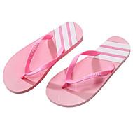 baratos Sapatos Masculinos-Homens Pele PVC Verão Conforto Chinelos e flip-flops Rosa claro / Branco / Preto / Preto / verde