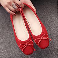 Γυναικεία Παπούτσια PU Άνοιξη Ανατομικό Χωρίς Τακούνι Επίπεδο Τακούνι για Κόκκινο / Πράσινο / Ροζ