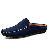 cheap Men's Clogs & Mules-Men's Shoes Leather / PU Summer Comfort / Formal Shoes Clogs & Mules Dark Blue / Yellow / Khaki