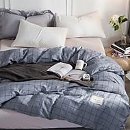 billiga Lakanset och örngott-Platt ark - Bomull / Polyester / Cotton Reaktiv Tryck Rutig 1st Underlakan