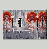 billiga Blom-/växtmålningar-Hang målad oljemålning HANDMÅLAD - Landskap / Blommig / Botanisk Moderna Duk