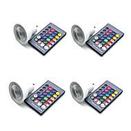 billige Spotlys med LED-4stk 5 W 350 lm GU10 / GU5.3 / E26 / E27 LED-spotpærer 3 LED perler SMD 5050 Smart / Mulighet for demping / Fjernstyrt RGBW 85-265 V