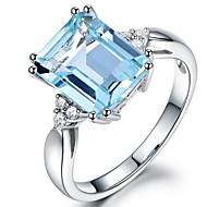 billiga Brudsmycken-Dam Syntetisk akvamarin / Kubisk Zirkoniumoxid Lång Bandring - Vintage, Elegant 6 / 7 / 8 Ljusblå Till Bröllop / Förlovning / Ceremoni