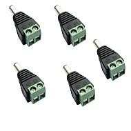 billige belysning Tilbehør-5pcs Strip Light Tilbehør / med DC-kontakt Elektrisk kontakt Plast for LED Strip lys