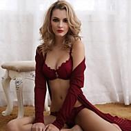 Dámské Běžný Sexy 3/4 Cupă Sady podprsenka + kalhotky Push up Květinový Krajka Nylon / Jdeme ven / Práce