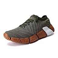 baratos Sapatos Masculinos-Homens Com Transparência / Sintéticos Verão Conforto Tênis Preto / Cinzento / Verde Escuro