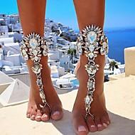 levne -Dámské Silný řetězec Yalınayak Sandaletleri Umělé diamanty dámy Evropský Bikini italština Nákotník Šperky Zlatá / Stříbrná Pro Denní Bikini Cosplay kostýmy