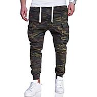 Homme Grandes Tailles Coton Mince Joggings / Pantalon cargo Pantalon - camouflage Vert Véronèse
