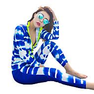 HISEA® Dame Dive skin - dragt Vindtæt, SPF50, UV Solbeskyttelse Lycra Heldækkende Badetøj Strand Tøj Dykkerdragter Geometrisk / UV-resistent / Hurtigtørrende / Hurtigtørrende / Strækkende