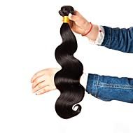 번들 6 개 브라질리언 헤어 요동하는 / 바디 웨이브 인모 / 미처리 인모 선물 / 헤드 피스 / 인간의 머리 직조 8-28 인치 블랙 자연 색상 인간의 머리 되죠 기계 제작 소프트 / 실키 / 패션 인간의 머리카락 확장 여성용
