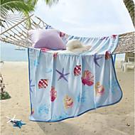 billiga Filtar och plädar-Korallfleece, Tryckt Tryck Polyester / PolyaMedium filtar