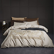 billige Moderne dynetrekk-Sengesett Luksus / Moderne 100% bomull / 100% Egyptisk Bomull Broderi 4 deler