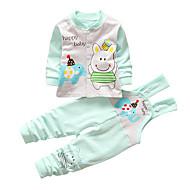 Baby Pige Trykt mønster Kortærmet Tøjsæt