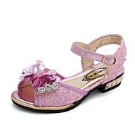 baratos Sapatos de Menina-Para Meninas Sapatos Couro Ecológico Verão Conforto / Sapatos para Daminhas de Honra Sandálias Caminhada Lantejoulas / Velcro para