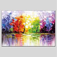 economico Dipinti ad olio-Hang-Dipinto ad olio Dipinta a mano - Floreale / Botanical Modern Tela