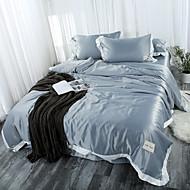 levne Tvrdé povlaky Kryty-Povlečení Jednobarevné Polyester S potiskem 4 kusy